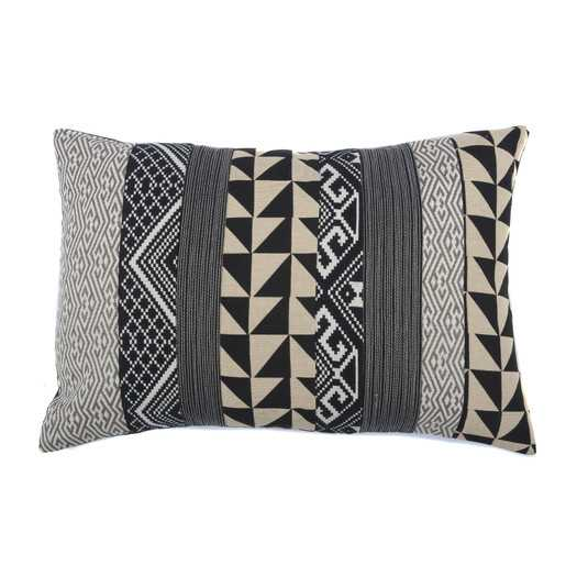 """Geometric Medly Cotton Throw Pillow - 16"""" H x 24"""" W - Down/Feather fill - AllModern"""