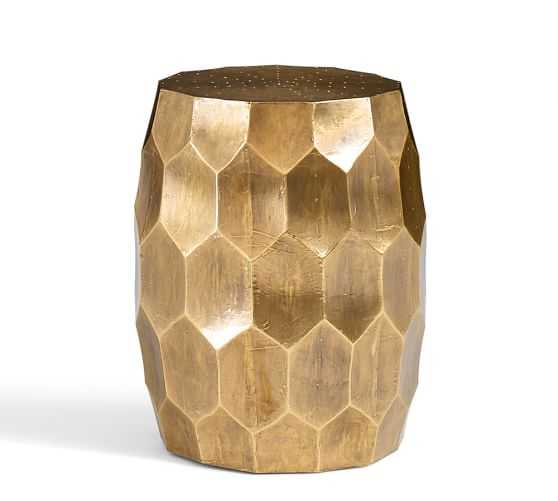 Vince Accent Stool, Brass - Pottery Barn