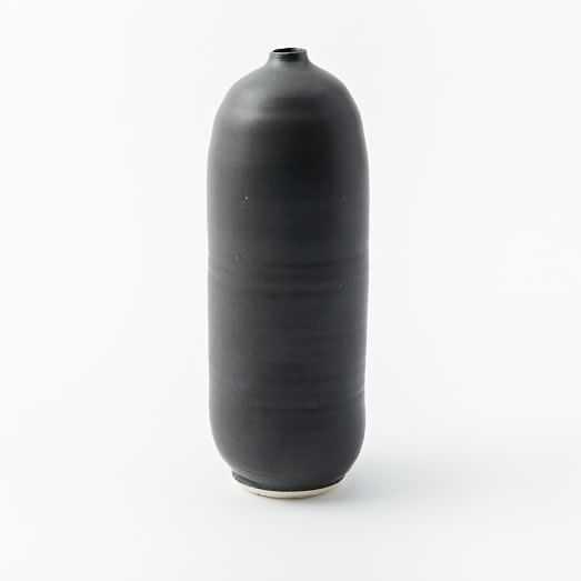 Judy Jackson Bottle Vase, Tall, Black - West Elm