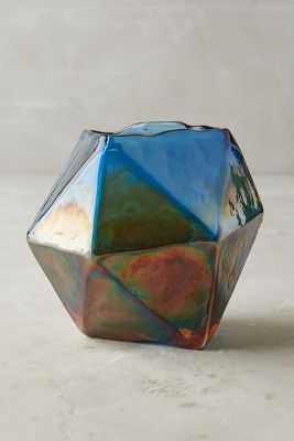Iridescent Angles Vase - Anthropologie