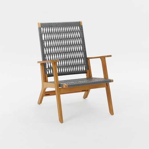 Catskill Wood + Wicker Chair - West Elm