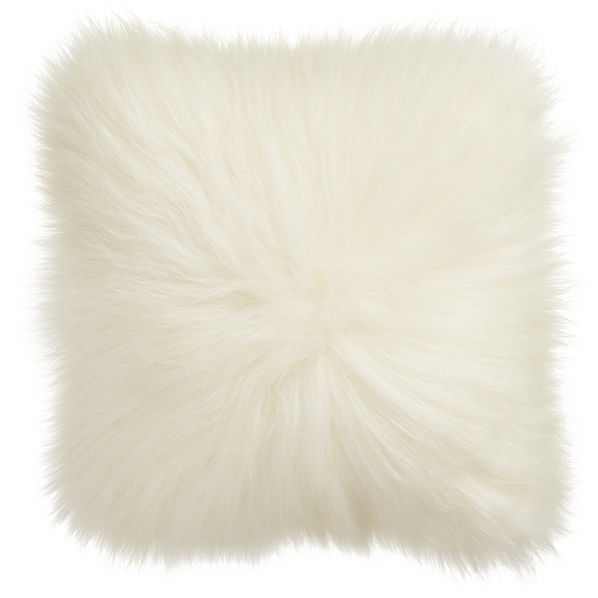 Icelandic sheepskin pillow with feather insert - CB2