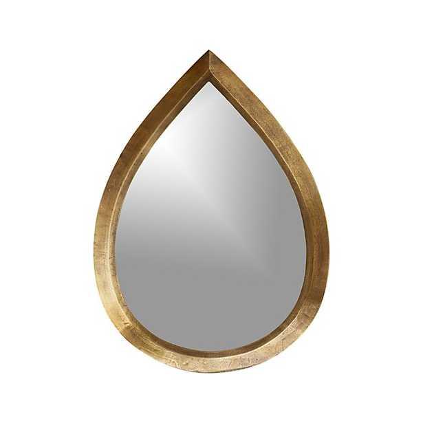 Kasbah Teardrop Brass Wall Mirror - Crate and Barrel