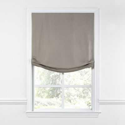 "RELAXED ROMAN SHADE - Lush Pure Linen - 39""W - Loom Decor"