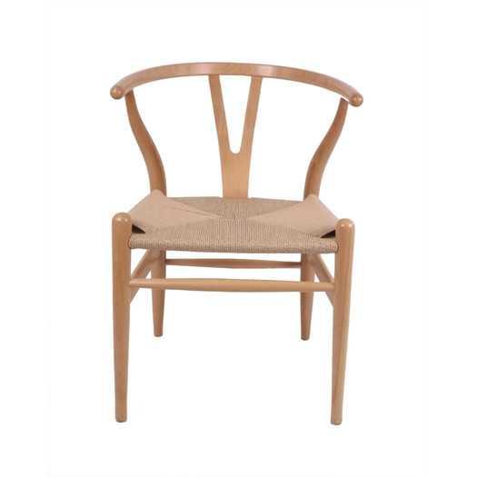 The Wishbone Arm Chair - White/Natural - AllModern