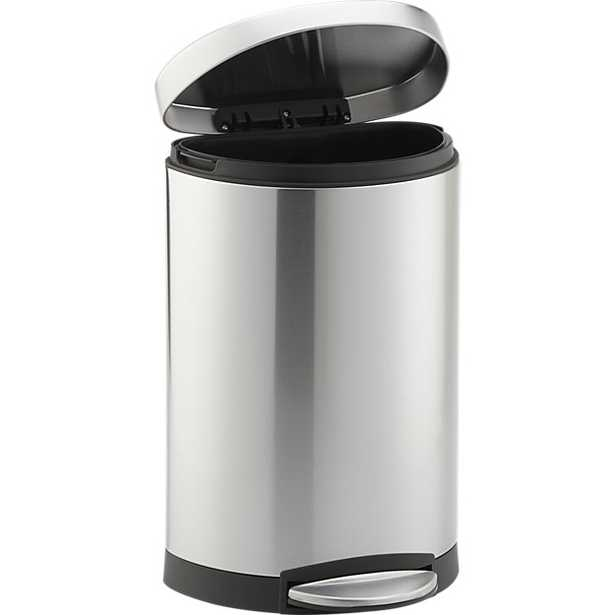Steel Step Trash Can - Crate and Barrel