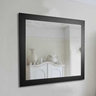 American Made Rayne Black Satin Wide Wall Mirror - Wayfair