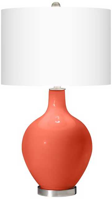 Daring Orange Ovo Table Lamp - Lamps Plus