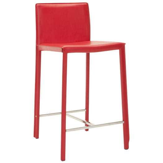 """East Rolstone 24"""" Bar Stool with Cushion-Red-Set of 2 - AllModern"""