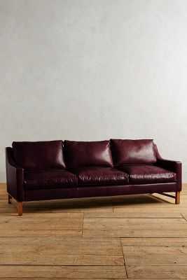 Leather Dorada Sofa - Oxblood - Anthropologie
