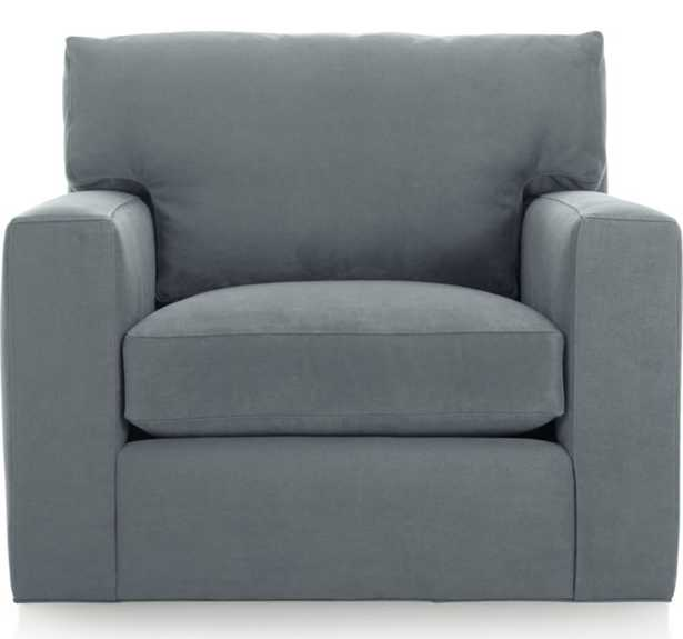 Axis II Swivel Chair - Indigo - Crate and Barrel