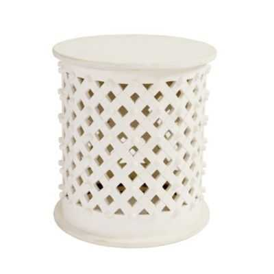 Bornova Side Table - White Wash - Ballard Designs