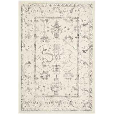 Porcello Ivory / Light Grey Oriental Rug - Wayfair