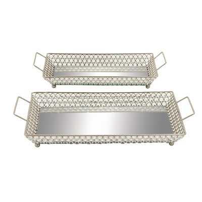2 Piece Bead Tray Set - Chrome - Wayfair