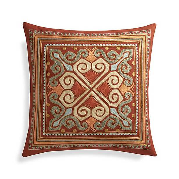 """Lhasa 20"""" Pillow with Down-Alternative Insert - Crate and Barrel"""