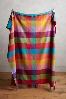 Avoca Rutherford Checked Throw - Anthropologie