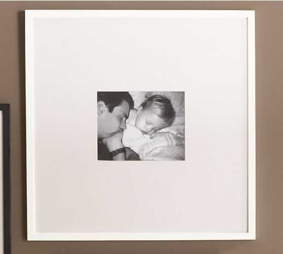 """Wood Gallery Oversized Picture Frame, 25 x 25"""", Modern White - Pottery Barn"""