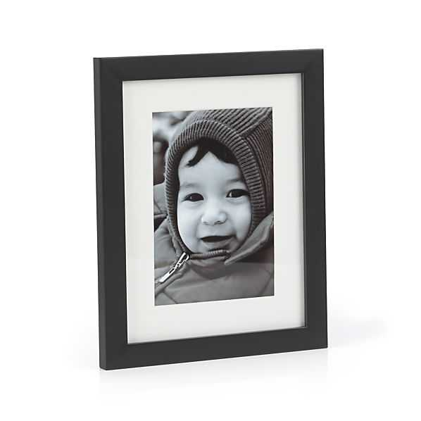 Matte Black 5x7 Picture Frame - Crate and Barrel
