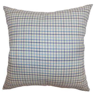 Jocko Check Cotton Throw Pillow 18x18 with insert - Wayfair