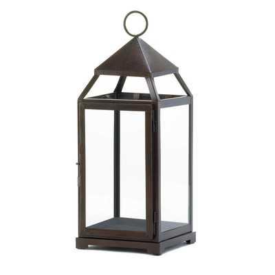 Large Contemporary Iron Lantern - Wayfair