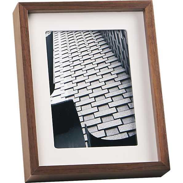 Walnut 5x7 picture frame - CB2