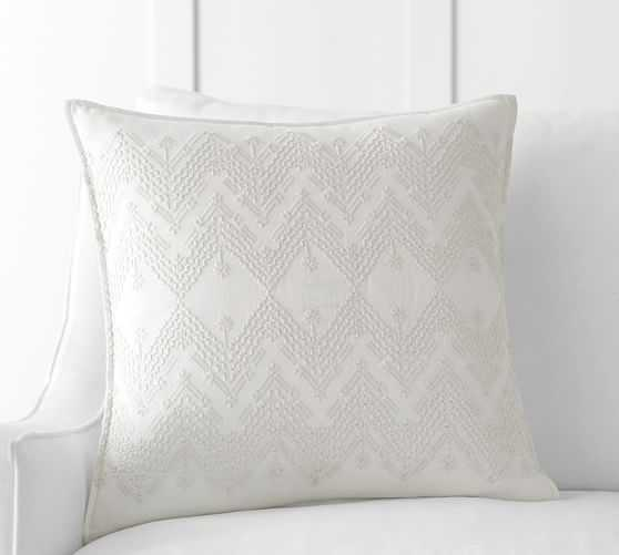 """Cami Embroidered Pillow Cover - 20""""x20"""" - Insert sold separately - Pottery Barn"""
