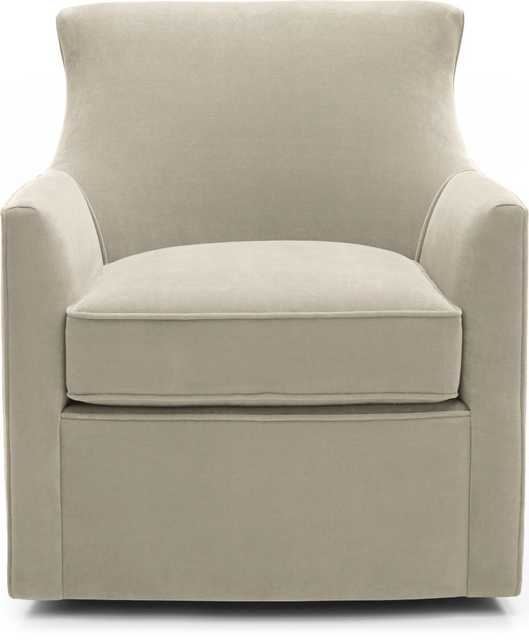 Clara Swivel Chair - Taupe - Crate and Barrel