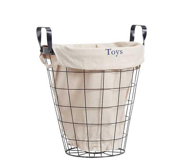 Medium Navy Basket With Liner - Pottery Barn Kids