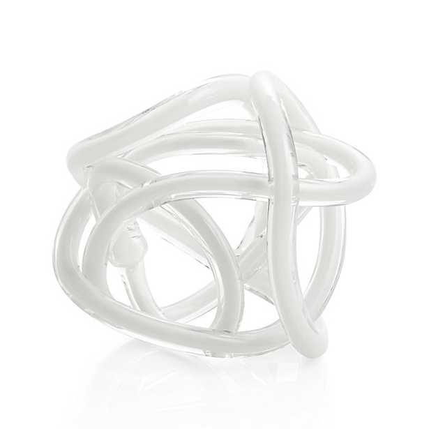 Matteo Large White Knot - Crate and Barrel