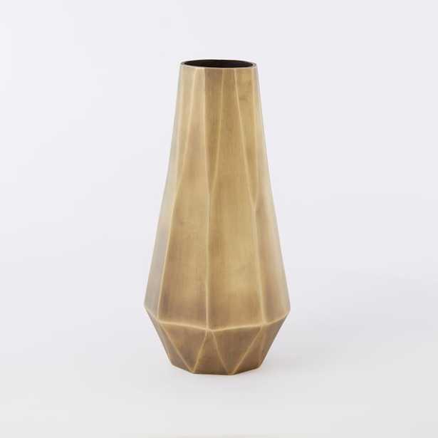 Faceted Metal Vase - Tall - West Elm