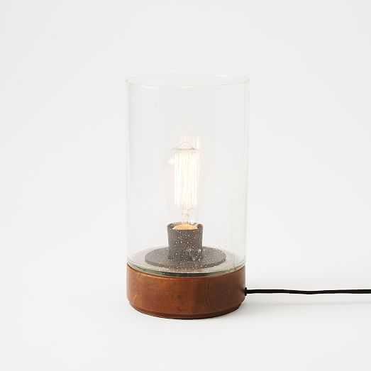 Bubble Glass Cylinder Table Lamp - West Elm