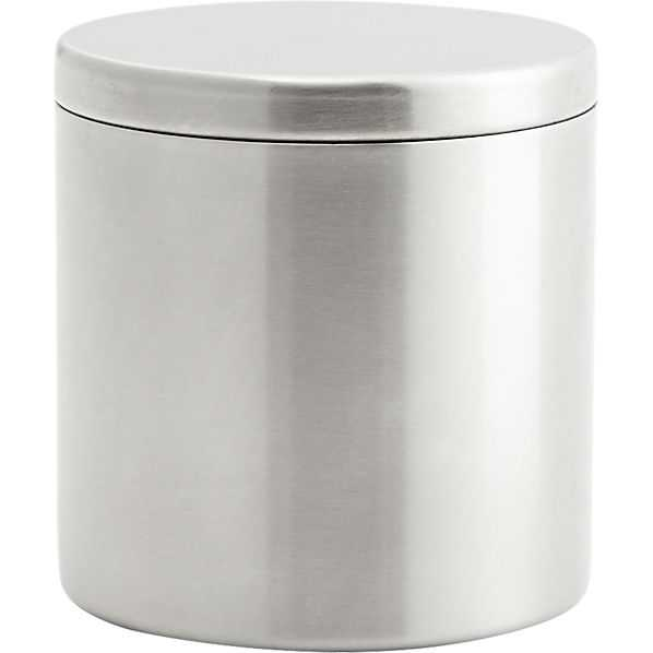 Stainless steel canister with lid - CB2
