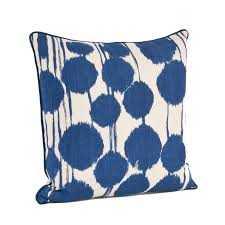 """Inkblot Design Cotton Throw Pillow - Indigo - 20"""" - with insert - AllModern"""