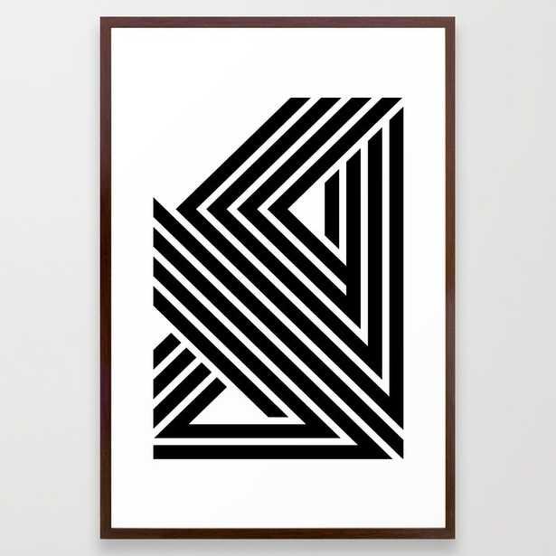 """Starlines 01. - 26"""" X 38"""" - framed - Society6"""