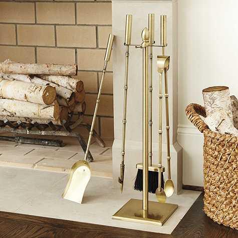 Rita Fireplace Tools - Brass - Ballard Designs