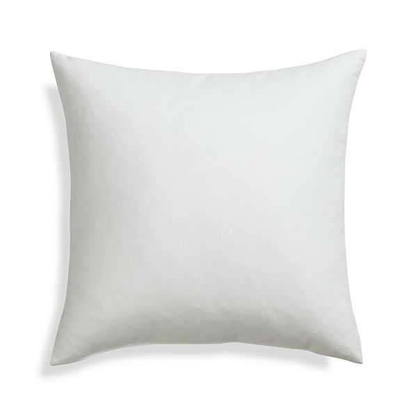 """Feather-Down 20"""" Pillow Insert-White - Crate and Barrel"""