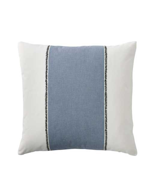 """Racing Stripe Pillow Cover - 20"""" x 20"""" - Chambray - Insert sold separately - Serena and Lily"""