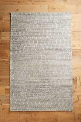 Stitched Pyramid Rug - Grey - 5' x 8' - Anthropologie
