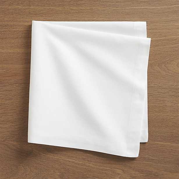 Fete White Cotton Napkin - Crate and Barrel