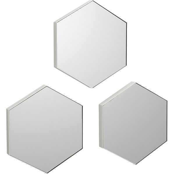 "Set of 3 swarm 13""x15"" wall mirrors - CB2"