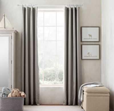 linen-cotton drapery panel - RH