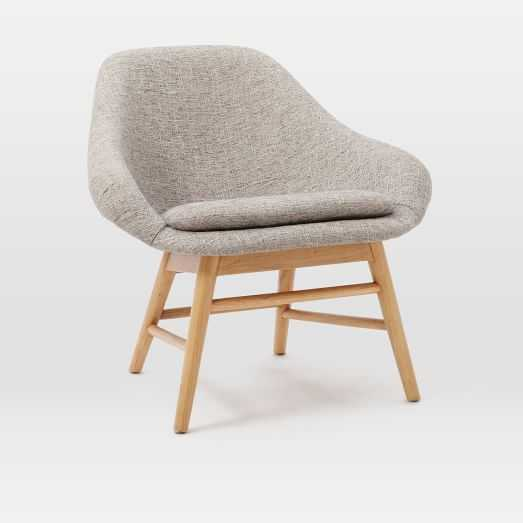 Mylo Chair - Deco Weave, Feather Gray - West Elm