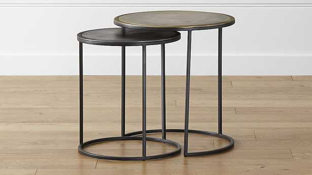 Knurl Nesting Accent Tables Set of 2 - Crate and Barrel