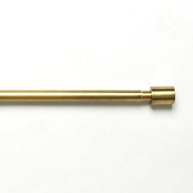 "Oversized Adjustable Metal Rod - Antique Brass - 24""-48"" - West Elm"