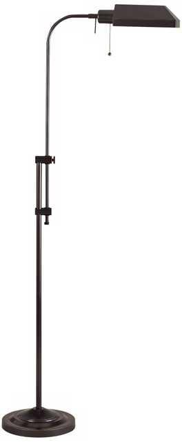 Dark Bronze Adjustable Pole Pharmacy Metal Floor Lamp - Lamps Plus