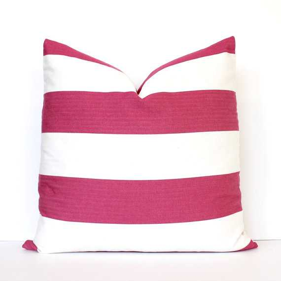 Decorative Designer Pillow Cover accent throw cushion striped,  insert not included - West Elm