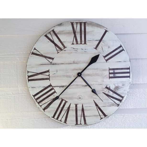 "Oversized 28"" Wall Clock - Wayfair"