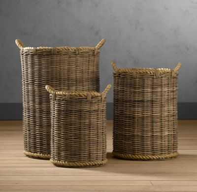 Handwoven Rattan Baskets - Large - RH