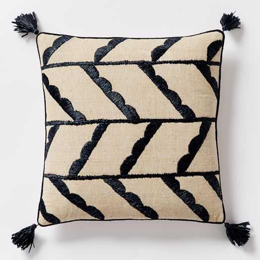 "Offset Scallop Pillow Cover - 18""sq.-no insert - West Elm"