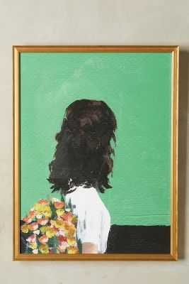 "Spring Dress Wall Art - 27.5""H, 23.5""W - Framed - Anthropologie"